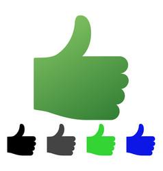 Thumb up flat gradient icon vector