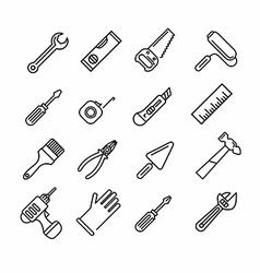 Tools icons set vector