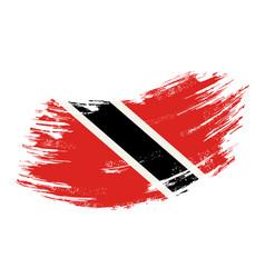 trinidad and tobago flag grunge brush background vector image