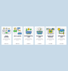 web site onboarding screens family technology vector image