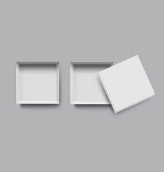 white box top view mock up 3d style vector image