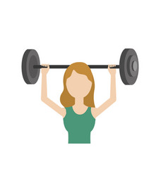 woman with dumbbell to do exercise vector image