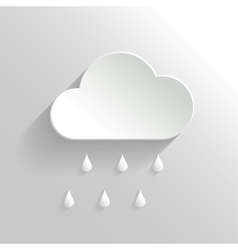 Abstract Cloud and Rain Icon vector image vector image