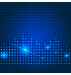 Blue technology city background vector image vector image