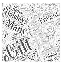 christian christmas gift Word Cloud Concept vector image vector image