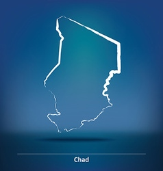 Doodle Map of Chad vector image vector image
