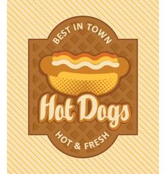 hot dog retro vector image vector image