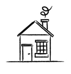 House sketch outline vector image vector image