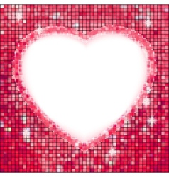 Pink frame in the shape of heart EPS 8 vector image vector image