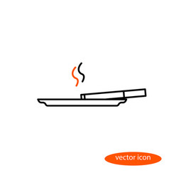 simple image of a thin line of cigarettes vector image vector image