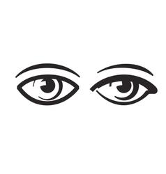 black eye vector image vector image