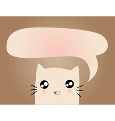 cartoon cat with bubble vector image vector image