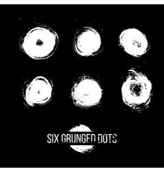 Set of Grunged Dots vector image