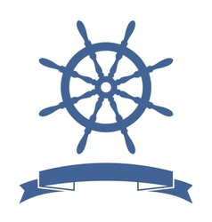 Ship Wheel Banner vector image vector image