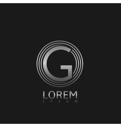 Silver G letter logo vector image