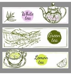 Tea Time Banner Set vector image