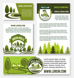 green company and eco business banner template set vector image
