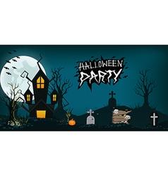 Halloween design background element haunted vector image