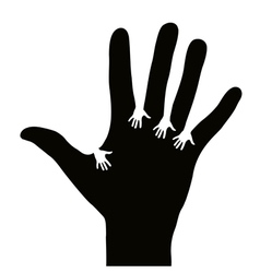 Hands reaching each other vector image vector image