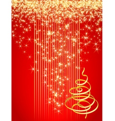 red christmas card vector illustration vector image vector image