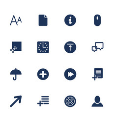 simple set icon for app programs and sites vector image vector image