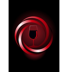 Dynamic icon for red wine vector image