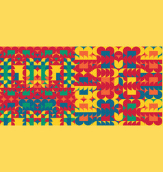 abstract colorful geometric design pattern can vector image