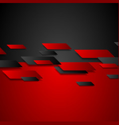 abstract red black tech corporate background vector image