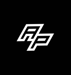 Ap logo monogram with up to down style negative vector