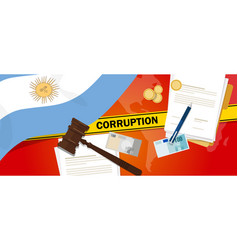 Argentina corruption money bribery financial law vector