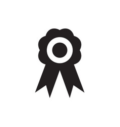 badge icon flat style award black icon for web vector image
