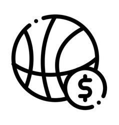 Basketball ball betting and gambling icon vector
