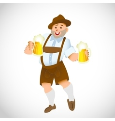 bavarian man with a big glass of beer vector image