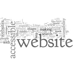 Benefits an accessible website part the vector
