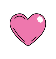 Beutiful pink heart related with romantic and love vector