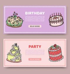 birthday party or wedding anniversary set vector image