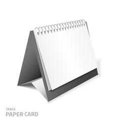 blank calendar design isolated on white 3d model vector image