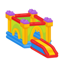 bouncy castle icon outdoor playground vector image