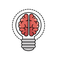 brain processes design vector image