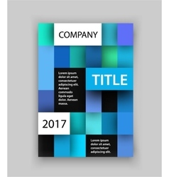 brochure template concept of square design vector image