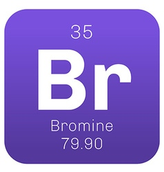 Bromine chemical element vector image