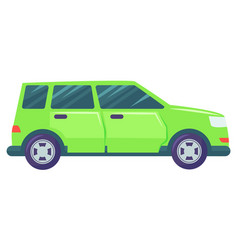 Car transport jeep vehicle modern automobile vector