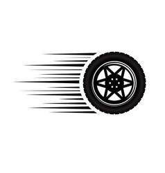 car wheel moving vector image
