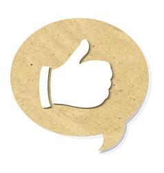 Cardboard Best Choice Symbol vector image vector image
