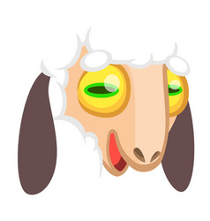 cartoon sheep face vector image