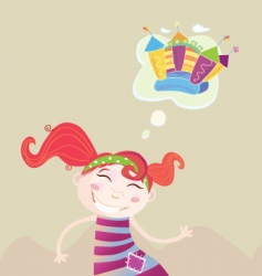 childrens dream vector image