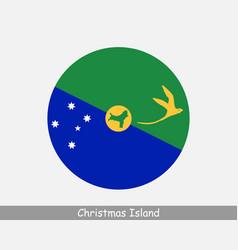 Christmas island round circle flag vector