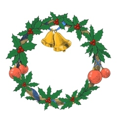 Christmas wreath garland vector