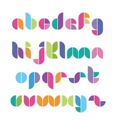 Color font from geometrical figures vector