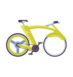Cruiser bicycle ecological sport transport vector